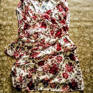 Torrid Ivory Floral Challis Drawstring Dress NWT